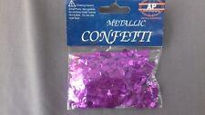PURPLE HEART table confetti tableware party Foil glitter art 14g metallic