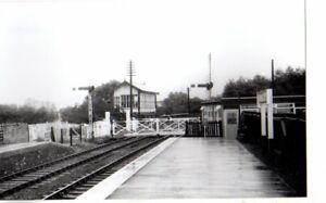 Rail Photo LMS LNWR Wansford station signal box Cambridgeshire caster yarwell