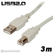 """""""USB 2.0 Drucker-Anschluss-Kabel-A-Stecker-B-Stecker 3m"""