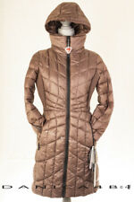 Bernardo Packable Quilted Hooded Bib Coat Puffer Down Primaloft Fill S Mocha 03bb65eaa
