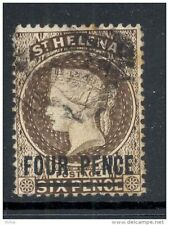 ST HELENA, 1884 4d sepia (surcharge 15mm) very fine used, SG43c, cat £17 (D)