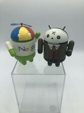 "Android Mini Collectible ""Noogler"" & ""Skully McRivithead"" 3"" Figures Lot"
