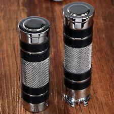 """Chrome 1"""" 25mm Motorcycle Hand Grips Handle Bar for Kawasaki Z800 Z1000 Suzuki"""