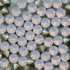 1028 SS34 RW *** 12 Strass Swarovski  fond conique 7,2mm ROSE WATER OPAL F