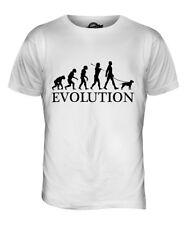 AMERICAN STAFFORDSHIRE TERRIER EVOLUTION OF MAN MENS T-SHIRT TEE TOP WALKER
