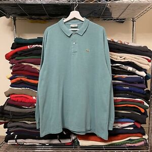 Lacoste Chemise 90s Essential Long Sleeve Polo Shirt Green XL