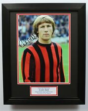 FRAMED Colin Bell In Manchester City Shirt HAND SIGNED Autograph Photo Mount COA