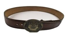 Leather Belt 1984 Olympic Belt Buckle F-18