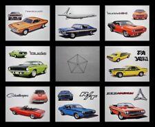 8 ART PRINTS - 1970 1971 PLYMOUTH AAR CUDA BARRACUDA HEMICUDA 440 440+6 426 HEMI