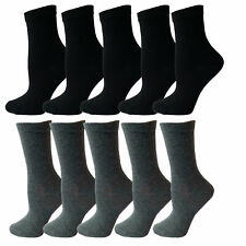 Boys Girls 10 Pairs Ankle Socks Unisex Black School Childrens Cotton Rich Socks