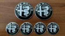 Set of 6pcs Alfa Romeo BLACK emblems logo insignia