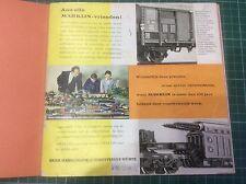 MARKLIN HO GAUGE MODEL RAILWAYS 1963-64 PRODUCT RANGE CATALOGUE (DUTCH TEXT)
