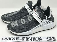 ADIDAS NMD HUMAN RACE PHARRELL HU TR PW UK 7 8 9 10 TRAIL BLACK WHITE OREO GREY