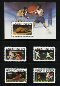 ANTIGUA/BARBUDA 1987 SET, OLYMPICS, SEOUL, 1988.  MINT
