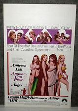 VIRNA LISI/MARISA MELL/URSULA ANDRESS/CLAUDINE AUGER orig poster ANYONE CAN PLAY