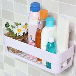 Corner Shelf Suction Cup Bathroom Shower Rack Wall Basket Bath Storage Organizer