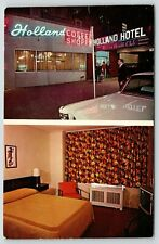 New York City~Hotel Holland~Neon Lights~Coffee Shop~Guest Room~West 42nd St~1955