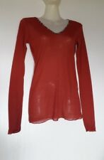 JOFRATI T-SHIRT STRETCH MANCHES LONGUES COL V TAILLE 1 OU S PAPRIKA