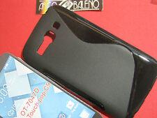 CUSTODIA COVER Per Alcatel ONE TOUCH OT 7047D POP C9 Silicone TPU MORBIDO NERO