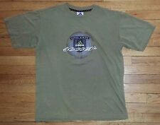 Adidas Shirt Base Layer Athletic Soccer Xl 3 stripe Olive Green Graphic s3240