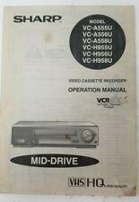 New listing Sharp vc-a555u a556u a558u h995u h956u h958u Manual Vcr+
