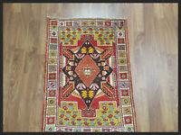 Handmade Colorful Turkish Antique 3x5 Oushak Oriental Area Rug