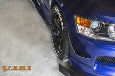 Mitsubishi Lancer Evo Front Bumper CARBON FIBRE Canards to fit most Bumpers v8