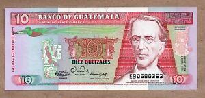 GUATEMALA - 10 QUETZALES - 3.1.1990 - P75b - UNCIRCULATED