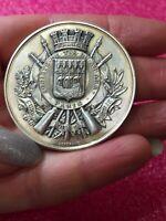 1900 Paris mint Bertrand Art Nouveau French Silver Military Shooting  medal