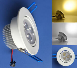 10x 1W/3W White/Warm/Blue LED Ceiling Down Light Recessed Cabinet lights 85~265V