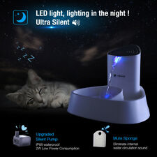 1.5L Led Pet Water Fountain Dogs Cat Automatic Dispenser Drinking Bowl Drinker