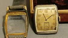 Women's Elgin 10k Yellow Gold Filled 15 Jewel leather Band Wrist Watch PARTS/RE