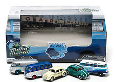 Greenlight DIORAMAS MOTOR WORLD 70's Car Wash  VOLKSWAGENS Set of 5 cars