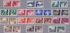 Kroatien 1941/42 Kehrdruckpaare aus Mi.Nr. 47//64 komplett postfrisch