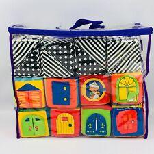 Iq Baby Knock Knock Blocks Set of 16 Fabric Soft Zipper Case 2001 Stacking Toy