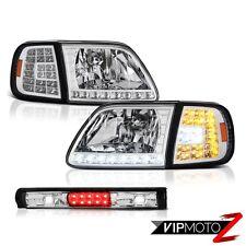 LED Signal Headlamps Roof Stop Black 1997-2003 F150 Flareside Harley Davidson