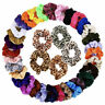 20 Pack Hair Scrunchies Velvet Scrunchy Bobbles Elastic Hair Bands Holder UK Lot