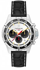 Chronograph Conqueror Cavadini, Stainless Steel, 10 bar, Face Silver