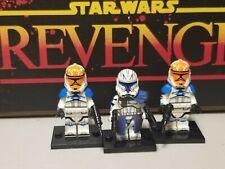 CAPTAIN REX Phase 3 custom w/ Ashoka 501st 501 lot 3 minifigures Star Wars