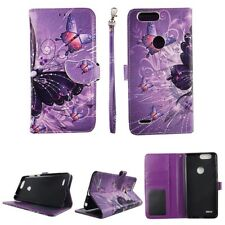 For ZTE Blade Z Max Zmax Pro 2 Sequoia Multi Buter Wallet PU Leather Case Cover