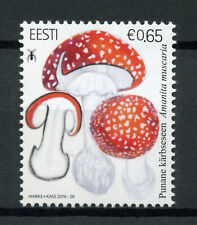 Estonia 2016 MNH Mushrooms Fly Agaric 1v Set Fungi Stamps