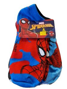 Marvel Spider-Man Assorted No Show Socks 6 Pair Boys Size Large (3-9) New...