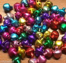 50 pcs Colorful Jingle Christmas Bells Loose Beads Charms Jewelry Making 6mm USA