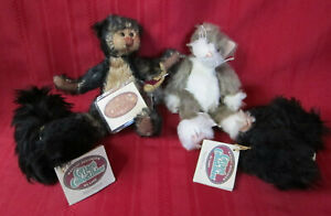 Ganz Cottage Collectible Lucky Jointed Bear MacPherson Scotty Dog Dusty Cat