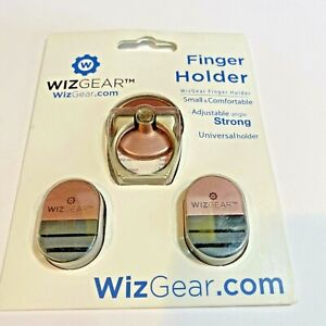 WizGear Universal Adjustable Angle Strong Finger Holder With Clips Pink New