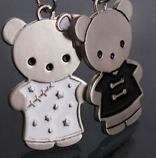 FD1137 Twins Bear Doll Metal Keychain Keyring Keyfob Key Ring ~1 Pair 2pcs ~