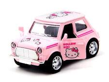 Rosa Hello Kitty Mini Cooper Diecast Auto Suono & Luci apertura porta