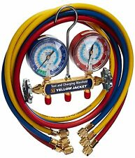 Yellow Jacket 42006 - Series 41 Manifold 3-1 8-Inch Gauges With Hoses R22 134A 404A