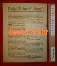 Orig. Flugblatt SPD Spartakus-Aufstand 1919: SCHULD ODER SÜHNE? #2