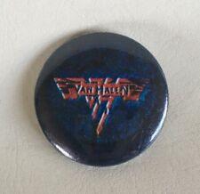 Van Halen 1984 Vintage Pinback Button Blue Vh